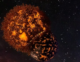 Create a Collision Planets 3D in Blender
