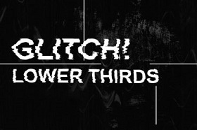 GLITCH LOWER THIRDS in AFTER EFFECTS
