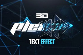 3D Plexus Text Effect in Cinema 4D and Photoshop