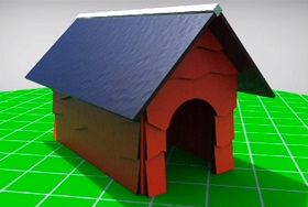 Snoopy's Doghouse 3D in Maya