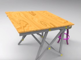 Model table drawing in maya