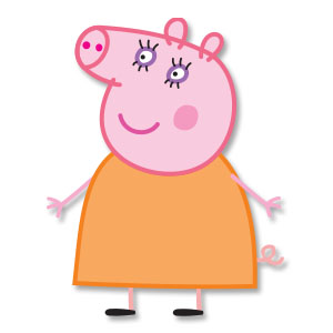 Mummy Pig Free Vector download