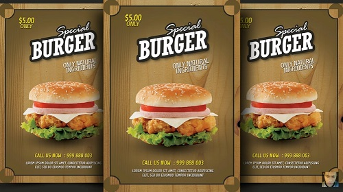 Burger Promotion Flyer in Photoshop