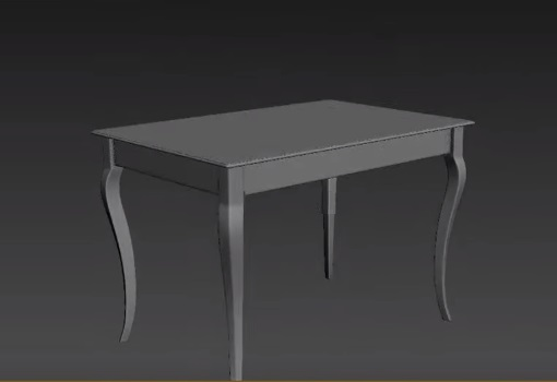 Classic Table in 3ds Max
