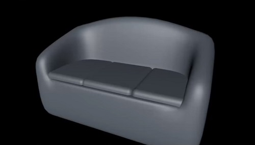 Simple and Fast Couch in Cinema 4D