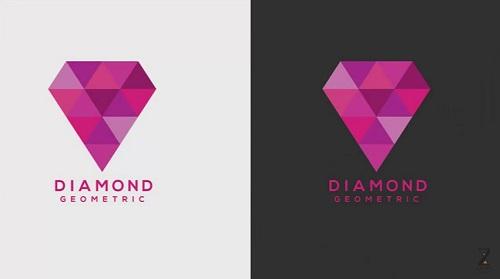 Geometric Diamond Logo in Illustrator