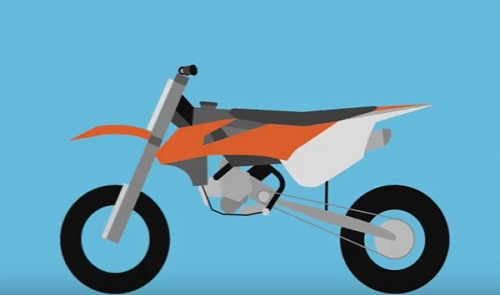 Dirtbike Flat Design in Illustrator