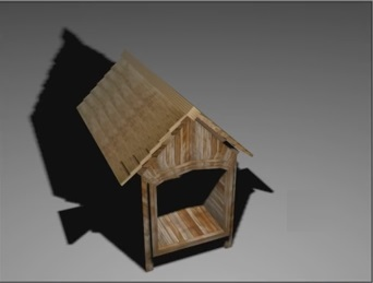 Dog House in 3ds Max
