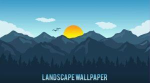 Landscape Wallpaper in Illustrator