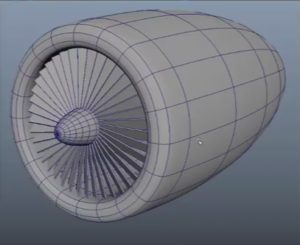 Modeling Engine Blades in Maya