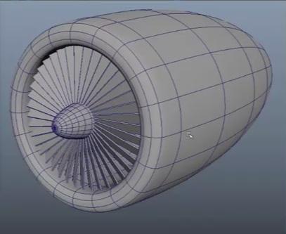 Modeling Engine Blades in Maya