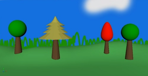 Simple Cartoon Style Backdrop in Maya