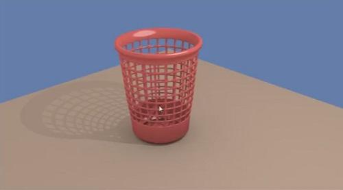 Trash Can 3D in Blender