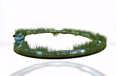 Water Circle in Cinema 4D