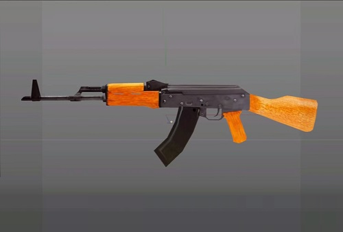 AK 47 Rifle in cinema 4D