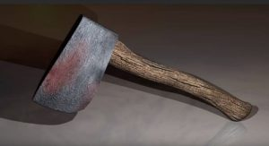 Low Poly Axe for a Game in Maya