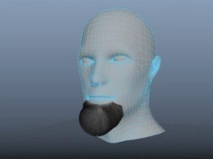 Facial Hair for 3D Model in Maya