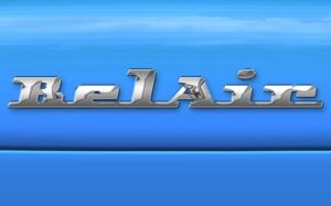 Vintage Car Chrome Logo in Photoshop