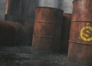 Grimy Barrel in Blender and Painter