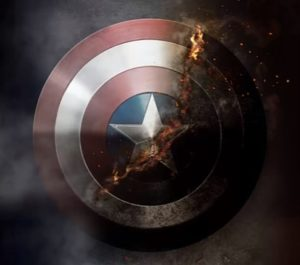 Captain America Shield Combustion in Photoshop