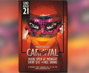 Flyer for Carnival Night in Photoshop