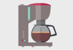 Coffee Flat Icon in CorelDRAW