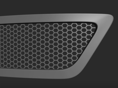 Car Hexagon Grid in 3ds Max