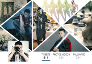 Multi-Image Twitter Header in Photoshop