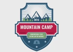 Mountain Badge Design in CorelDRAW