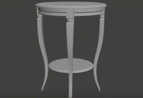 Neoclassical Table in 3ds Max