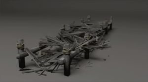 Destroying Wooden Pier in 3ds Max