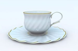 Porcelain Coffee Cup in Cinema 4D