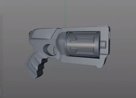 Modeling Urban Pistol in Cinema 4D