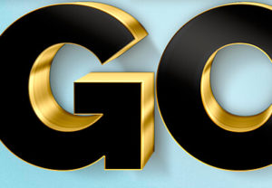 Create 3D Black and Gold Text in Photoshop