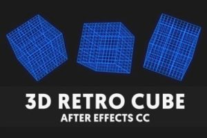 Create Wire Retro Cube Effect in After Effects