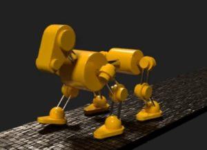 Animating Dog Robot in Blender