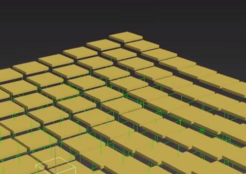 Creating Tiles Floating Motion in 3ds Max