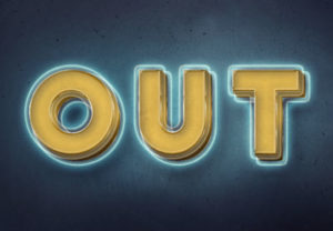 3D Glowing Retro Text in Photoshop