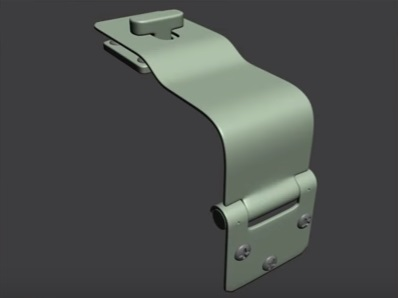 Detailed Hinge in 3ds Max