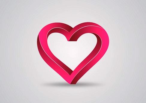 3D Heart Logo in Illustrator