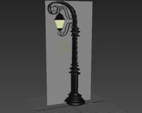 Modeling a 3D Street Lamp in 3ds Max