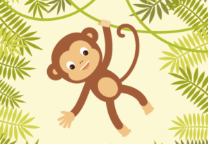 Nice Monkey Illustration in Adobe Illustrator