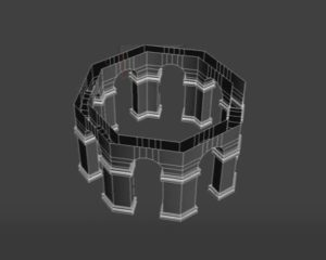 Modeling an Structure Octagon Arches in 3ds Max