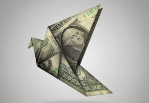 Origami Birds Dollar in Photoshop