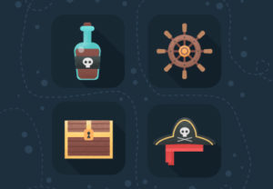 Create Flat Pirate Icons in Photoshop