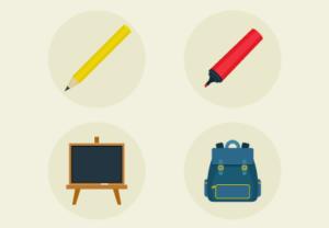 Draw School Set Icons in Adobe Illustrator