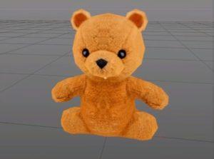 Teddy Bear in Cinema 4D