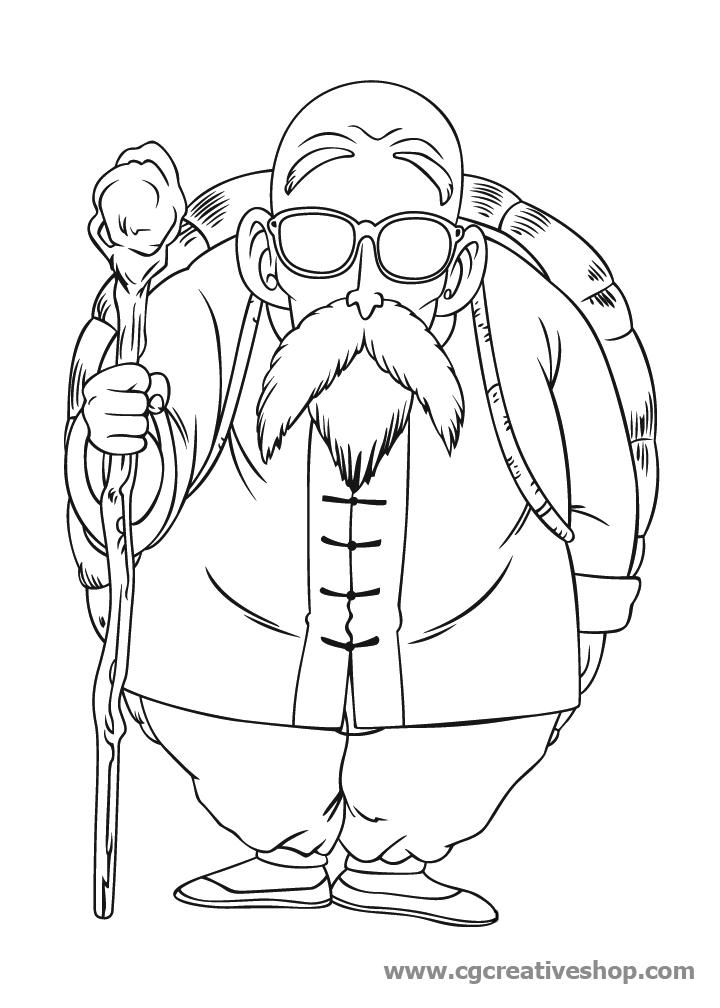 Genio delle Tartarughe, disegno da colorare