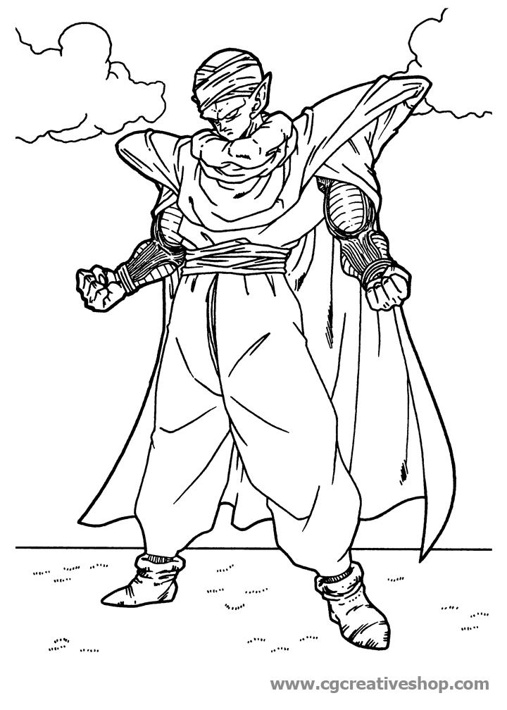 Junior di Dragon Ball, disegno da colorare