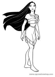 Pocahontas principessa Disney, disegno da colorare